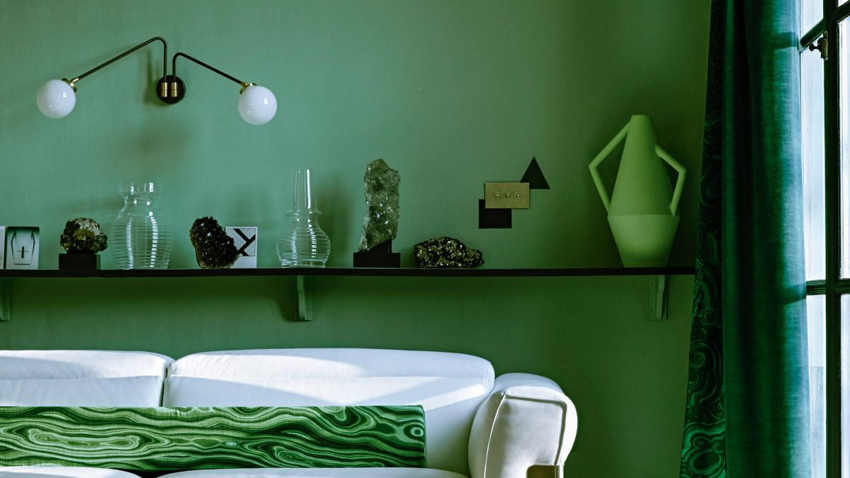 Green paint is the decor update of the moment