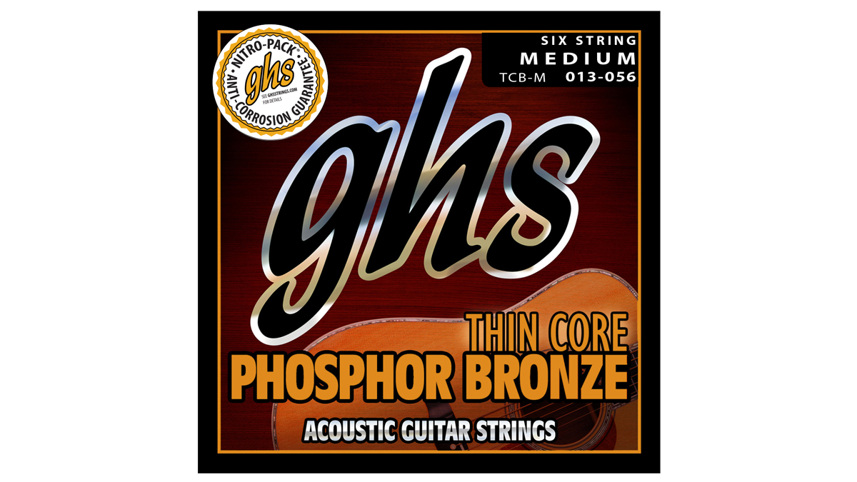 """GHS's Thin Core Phosphor Bronze strings promise """"superior playability with balanced tone"""""""
