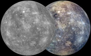 During its first Mercury solar day (which is about 176 Earth days long) in orbit, NASA's MESSENGER spacecraft imaged nearly the entire surface of Mercury to generate a global monochrome map at 250 meters per pixel resolution and a 1 kilometer per pixel re