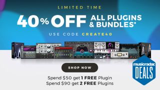 Save an extra 40% off Waves plugins and get a FREE plugin with orders over $50