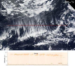 Terra satellite cirrus clouds