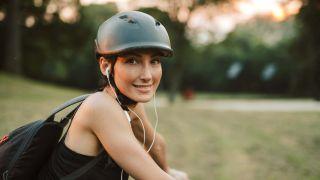 woman wearing one of the best bike helmets