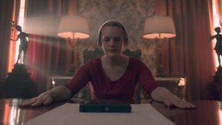 "Elisabeth Moss in Season 3 of ""The Handmaid's Tale"" on Hulu."