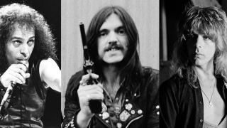 A picture of Ronnie James Dio, Lemmy and Randy Rhoads