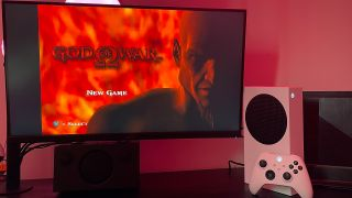 God of War running on an Xbox Series S