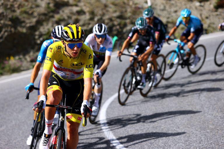 Tadej Pogacar on stage 15 of the 2021 Tour de France