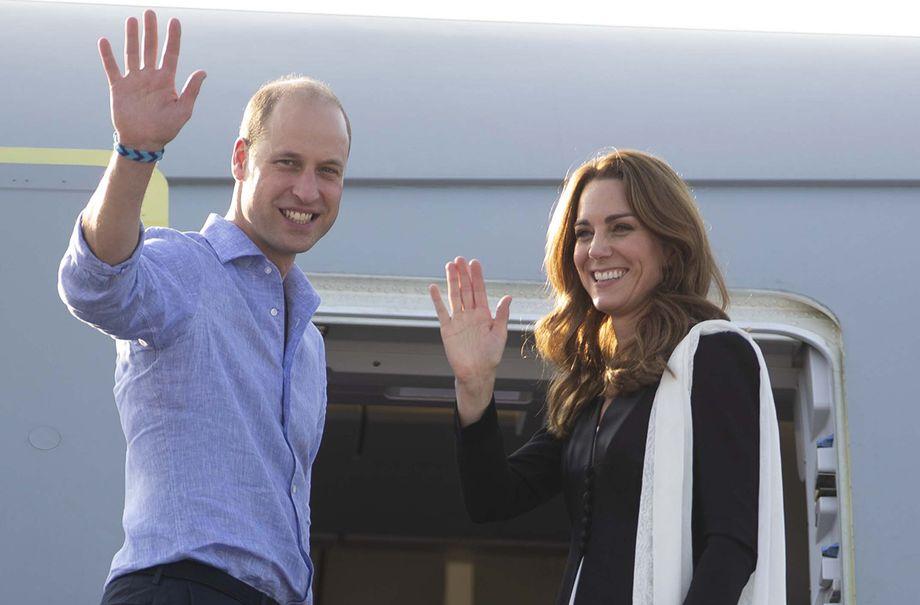 prince william duchess kate diverted flight pakistan
