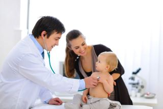 A baby visits the doctor