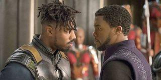 Killmonger and T'Challa