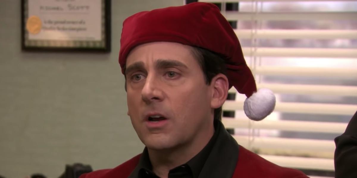 michael scott santa hat the office