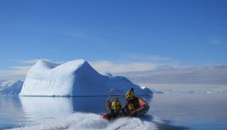 Researchers at work in Antarctica