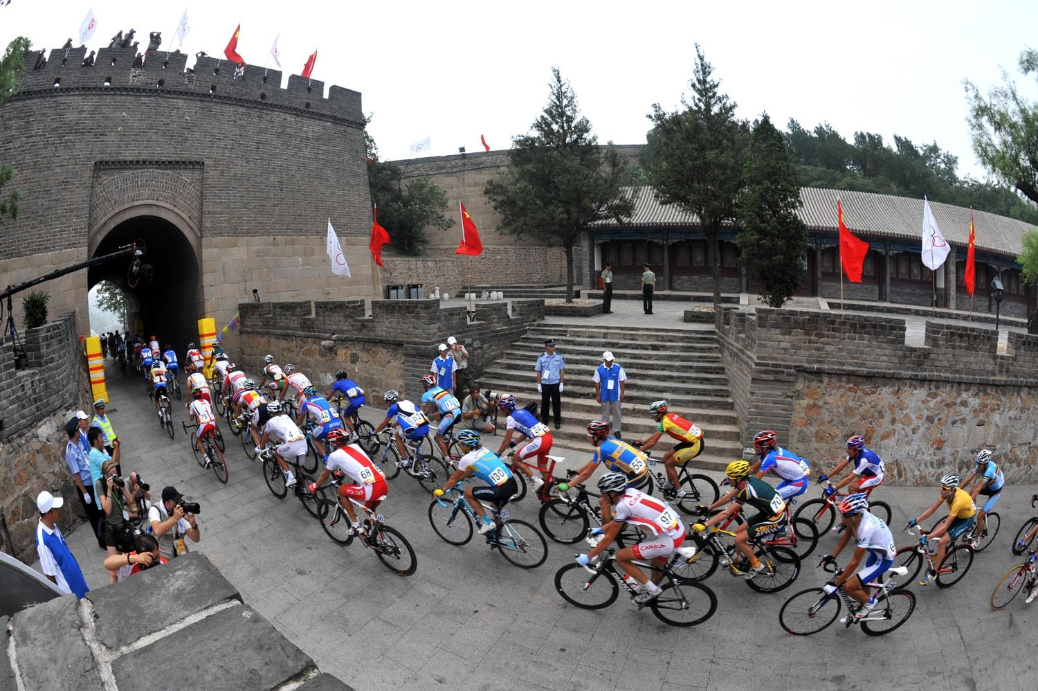 Great Wall of China men's Olympic road race 2008