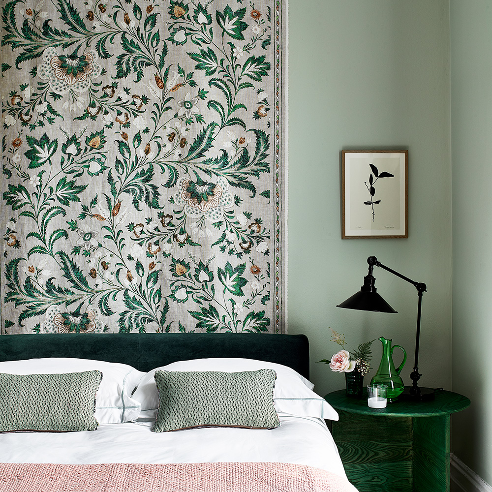 Botanical bedroom with delicate plant motifs | Homes & Gardens