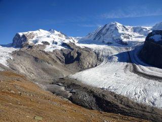 Gorner glacier in the European Alps.