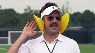 Jason Sudeikis as Ted Lasso in _Ted Lasso._