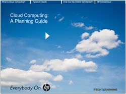 Cloud Computing: A Planning Guide