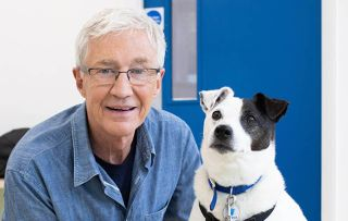 Paul O'Grady with Jack Russell Archie