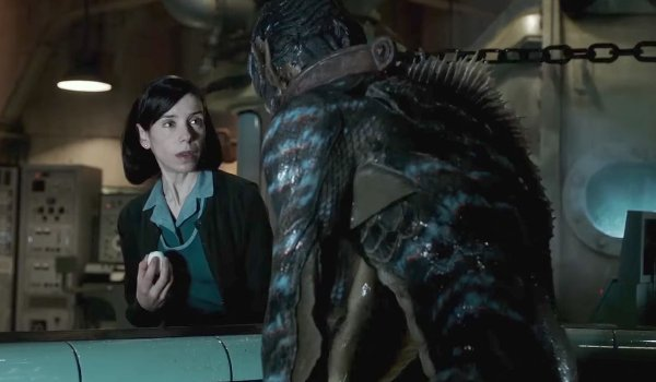 The Shape of Water Elisa and the creature connect