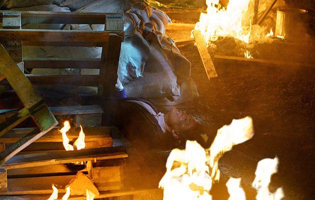 Emmerdale Moira blaze