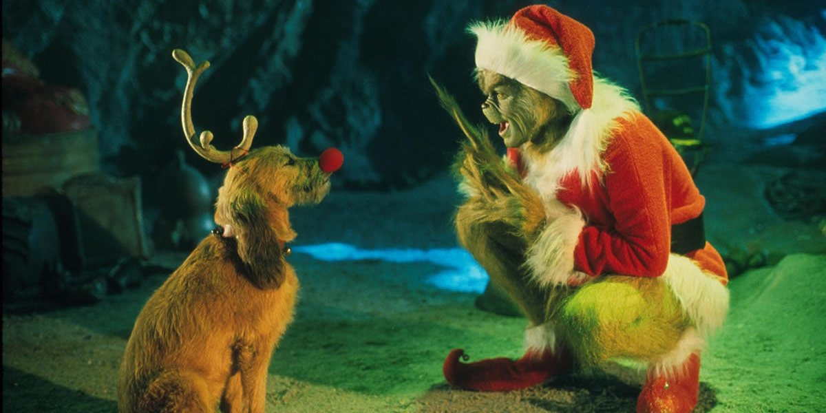 Jim Carrey in How the Grinch Stole Christmas