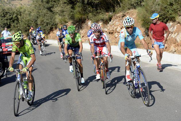Vincenzo Nibali and Ivan Basso, Vuelta a Espana 2013, stage 10