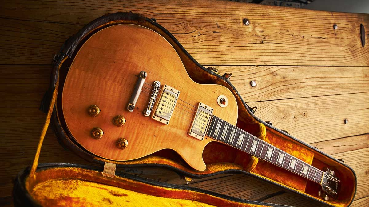 Paul Kossoff's 'Stripped Top' 1959 Gibson Les Paul Standard up close and personal