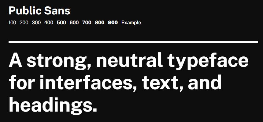 Best free fonts: Public Sans