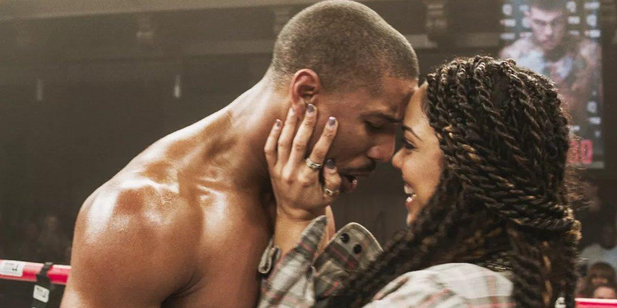 Michael B. Jordan and Tessa Thompson in Creed