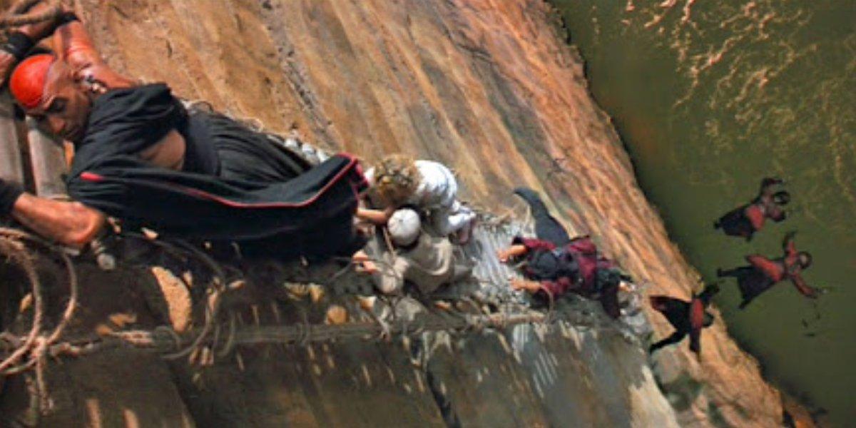 The Indiana Jones and the Temple of Doom bridge scene