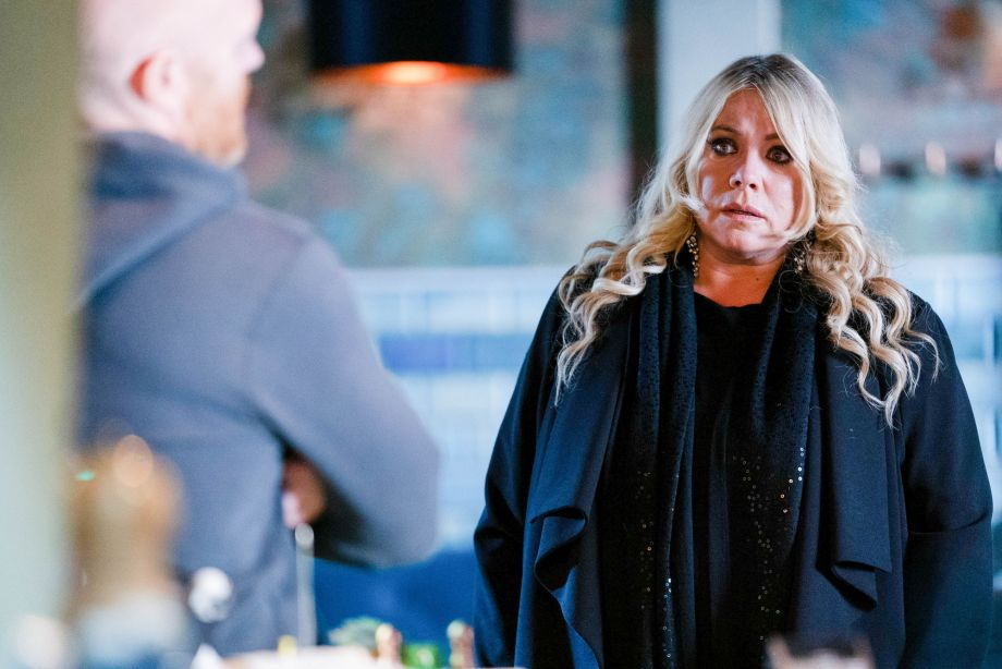 Max quizzes Sharon in EastEnders