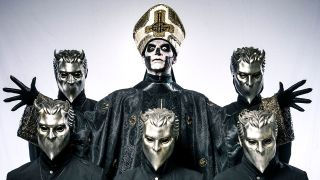 A press shot of Ghost taken in 2016