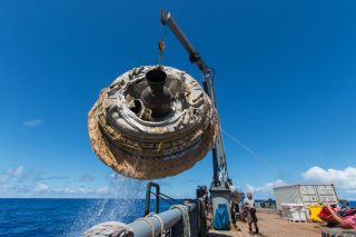 NASA's LDSD Test Vehicle Pulled From the Ocean