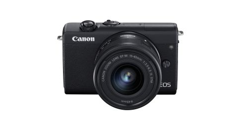 Image shows the Canon EOS M200 camera against a white background.