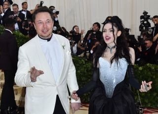 Elon Musk and musician Grimes show up as a couple to the 2018 Met Gala on May 7 at the Metropolitan Museum of Art in New York.