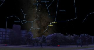 september 2017 skywatching, moon, saturn