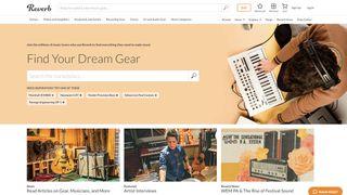 Reverb.com homepage