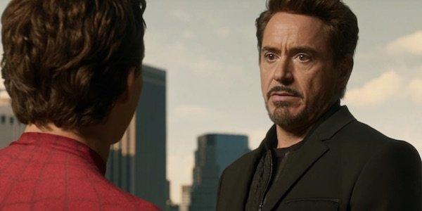 Tony reprimanding Peter in Homecoming
