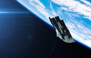 An artist's impression of the Black Knight satellite. The spacecraft has sparked a long-lived conspiracy theory.