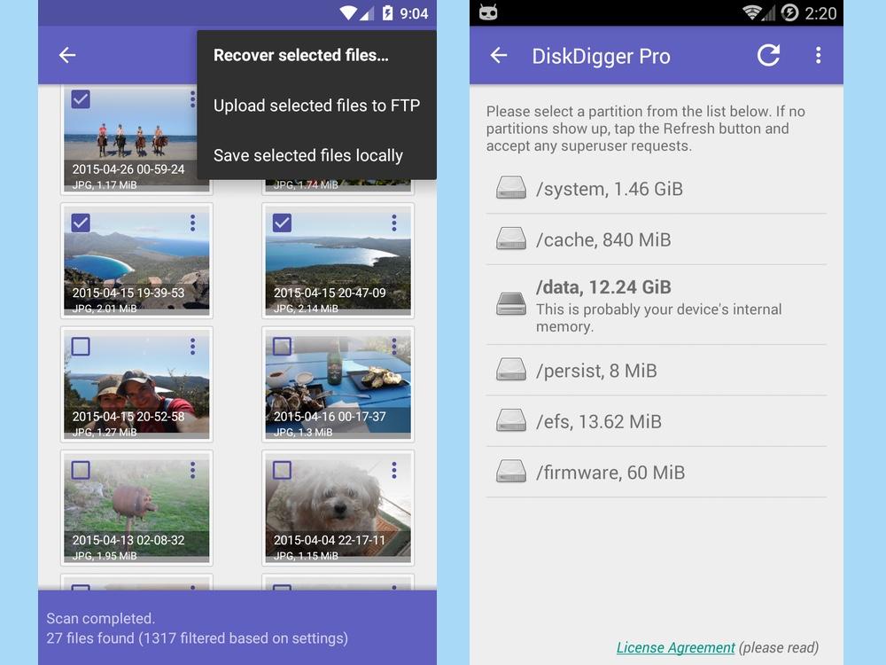 Best root apps: DiskDigger