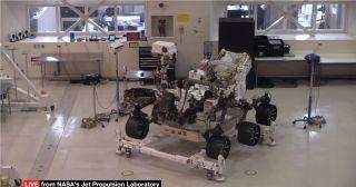NASA's Mars 2020 rover photobombed by mysterious 'High Bay Bob' in sunglasses