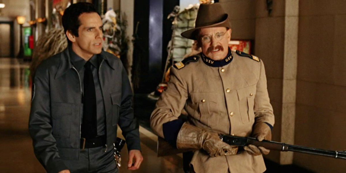 Ben Stiller and Robin Williams in Night at the Museum