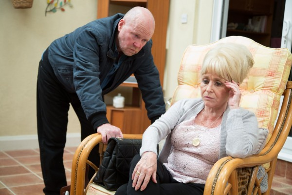 Barbara Windsor and Steve McFadden in EastEnders