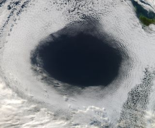 Australian cloud hole