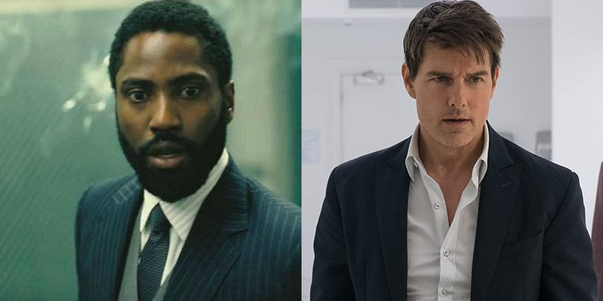 John David Washington and Tom Cruise side by side