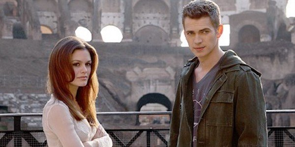 Rachel Bilson and Hayden Christensen in Jumper