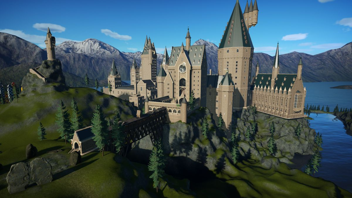 This perfect, to-scale recreation of Hogwarts made in Planet Coaster is incredible