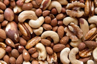 Various nuts, vitamin e