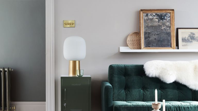 Little Greene French Grey painted living room