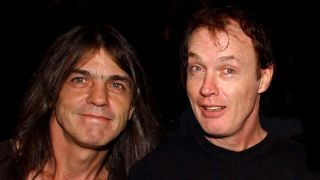 Angus Young and Malcolm Young in 2003