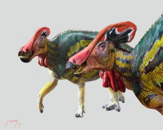 Scientists discovered a new species of dinosaur called the Tlatolophus galorum.